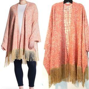 2X Melissa McCarthy Fringe Kimono Sweater NWT